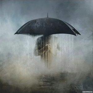 Фото на аву девушка под дождем015
