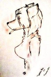 Фурри рисунок карандашом016