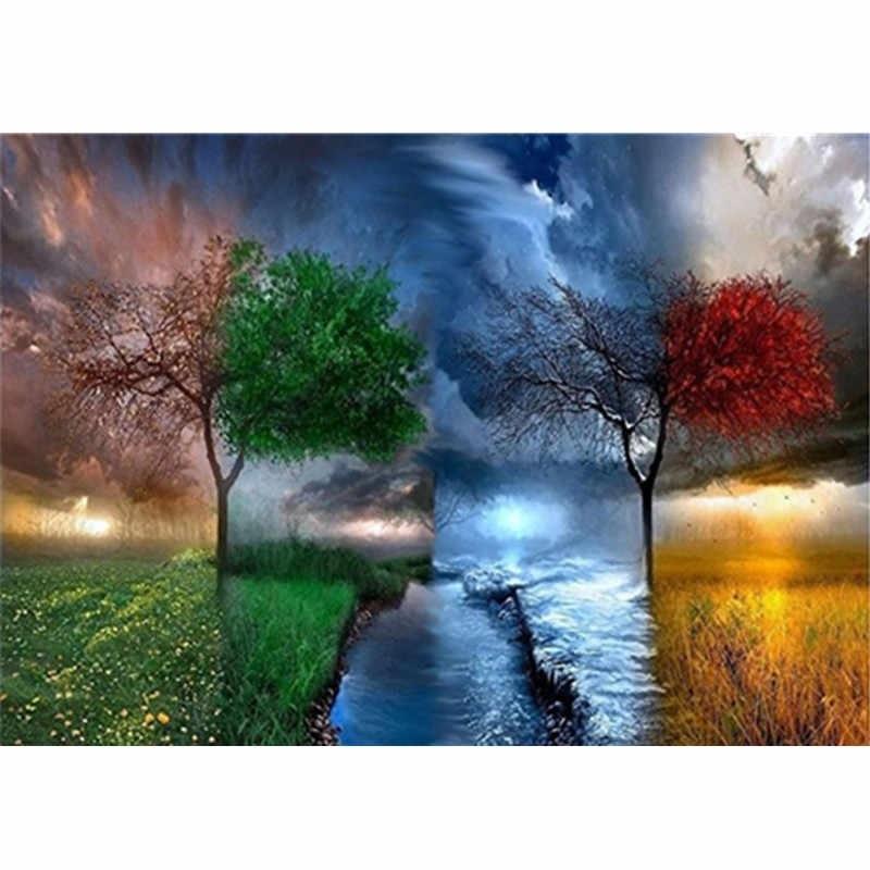 дерево зимой весной летом осенью 015
