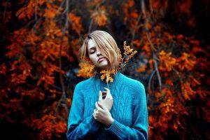 картинки на заставку осень и девушка 004