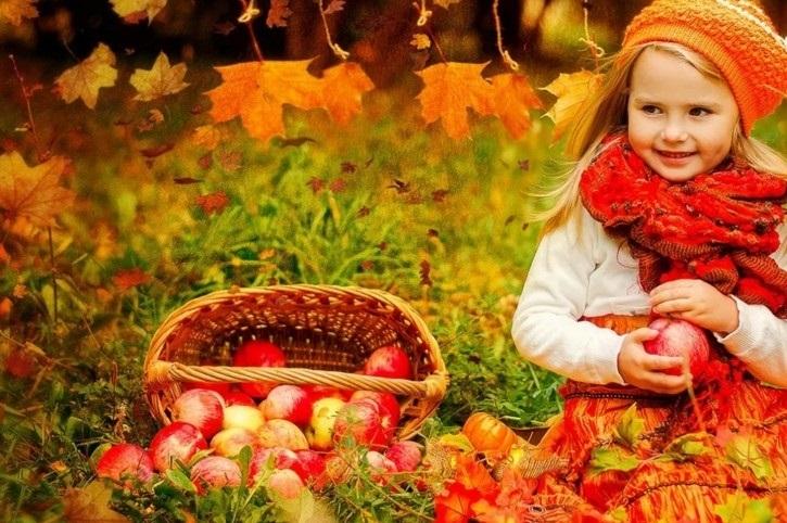 красивые картинки про осень с детьми 007
