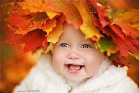 красивые картинки про осень с детьми 018