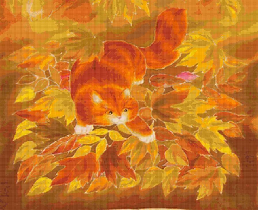 красивые картинки про осень с животными 003