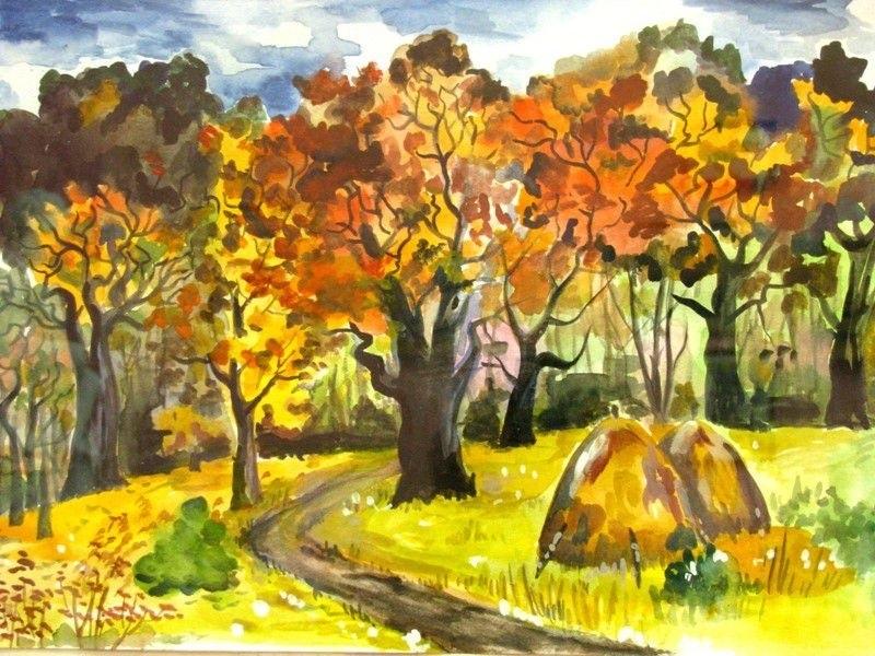 лесные деревья осенью картинки для детей 003