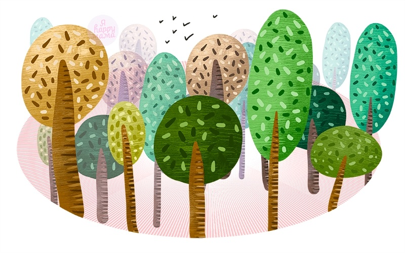 лесные деревья осенью картинки для детей 004