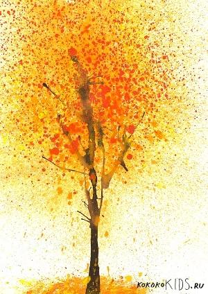 лесные деревья осенью картинки для детей 018