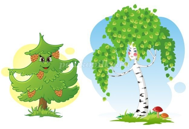 лесные деревья осенью картинки для детей 027
