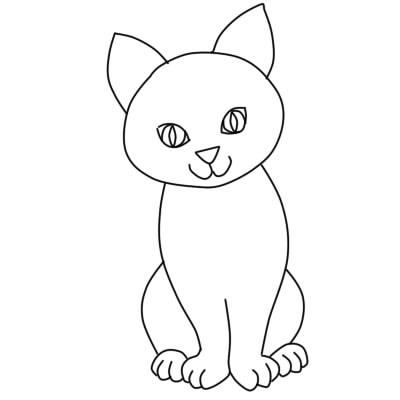 Аниме рисунки кошки для детей 001