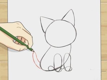 Аниме рисунки кошки для детей 002