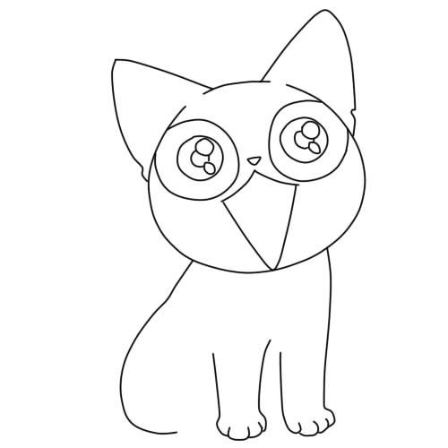 Аниме рисунки кошки для детей 003