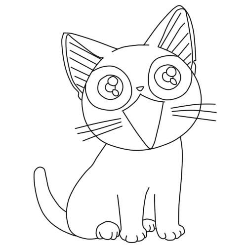 Аниме рисунки кошки для детей 004