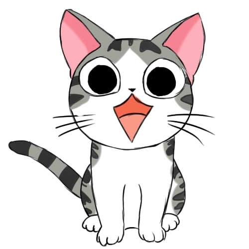 Аниме рисунки кошки для детей 005
