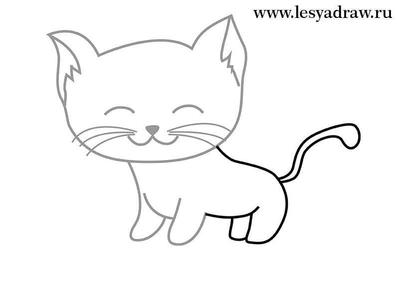 Аниме рисунки кошки для детей 009
