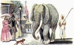 Басни крылова картинки слон и моська 007