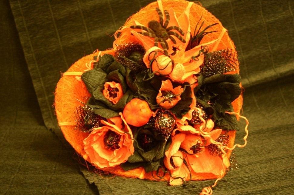 Букеты из конфет на хэллоуин 001