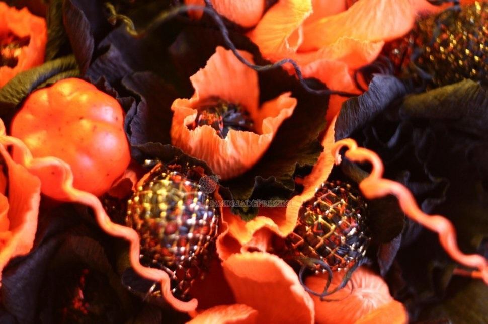 Букеты из конфет на хэллоуин 004