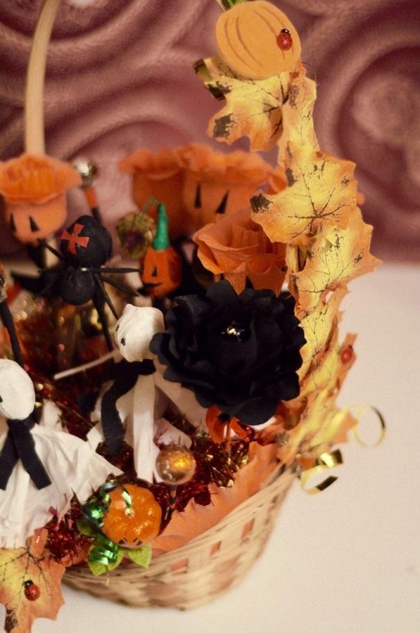 Букеты из конфет на хэллоуин 005
