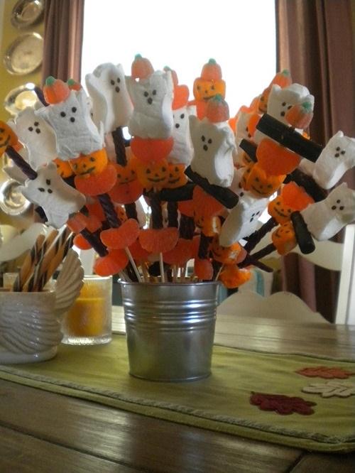 Букеты из конфет на хэллоуин 008