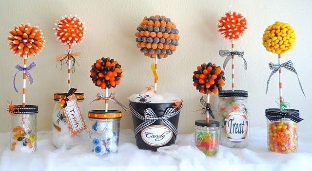 Букеты из конфет на хэллоуин 013