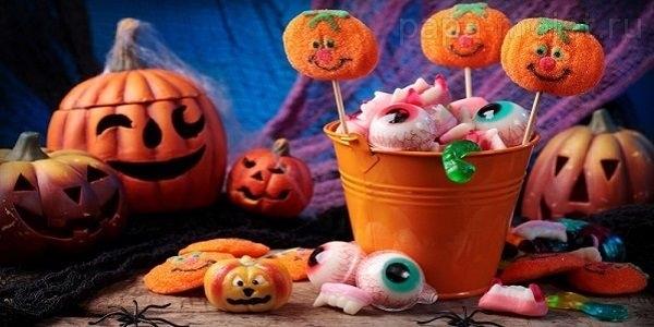 Букеты из конфет на хэллоуин 014