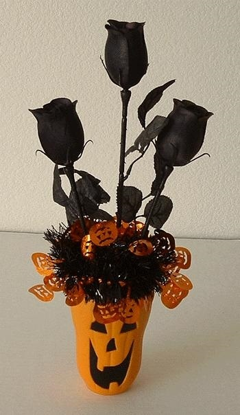 Букеты из конфет на хэллоуин 015
