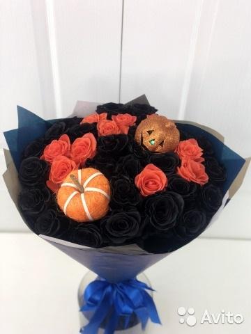 Букеты из конфет на хэллоуин 018