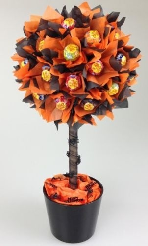 Букеты из конфет на хэллоуин 021