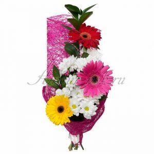 Букеты к 1 сентября фото с герберами и хризантемами   фото (21)