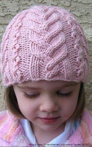Вязанные детские шапки 006