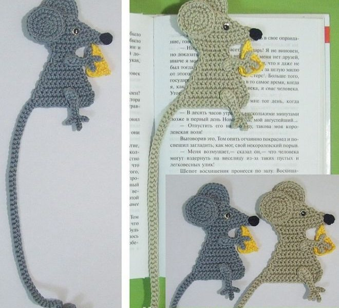 Вязаные закладки для книг крючком 011