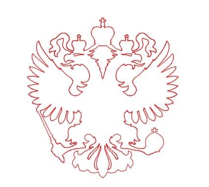Герб россии трафарет 007