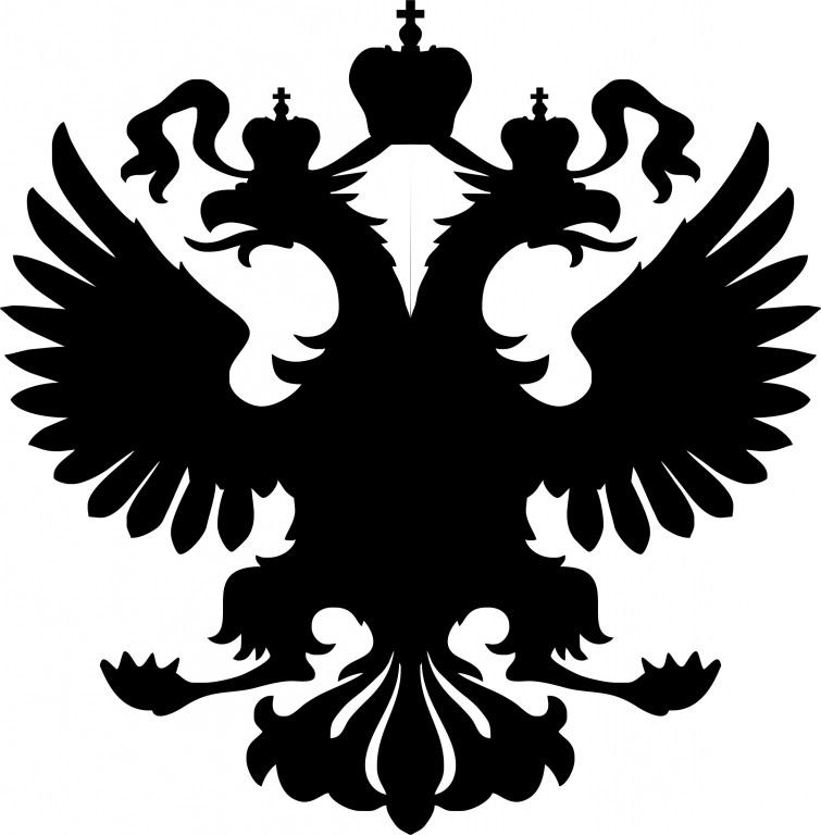 Герб россии трафарет 013