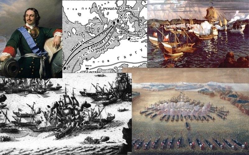 День победы русского флота под командованием Петра Первого над шведами у мыса Гангут 004