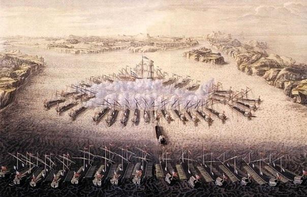 День победы русского флота под командованием Петра Первого над шведами у мыса Гангут 007