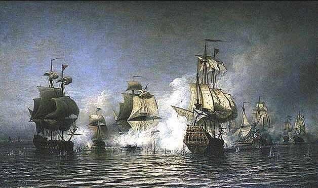 День победы русского флота под командованием Петра Первого над шведами у мыса Гангут 012