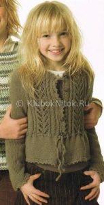 Детские вязанные кардиганы для девочек спицами фото и схемы 006