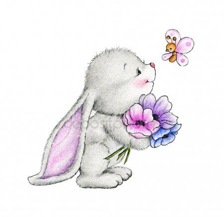 Зайки и зайчики милые рисунки (14)