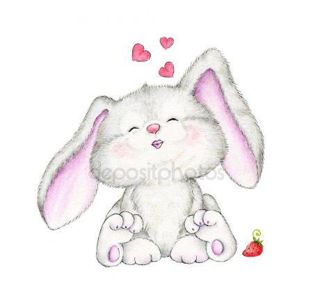 Зайки и зайчики милые рисунки (15)