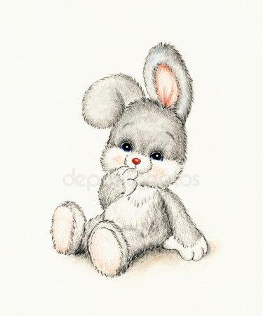 Зайки и зайчики милые рисунки (17)