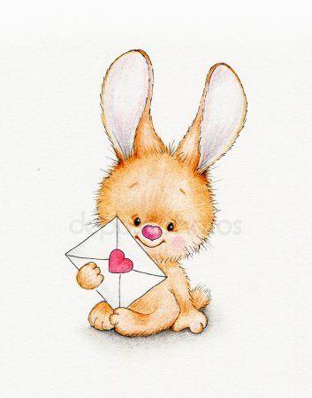 Зайки и зайчики милые рисунки (19)
