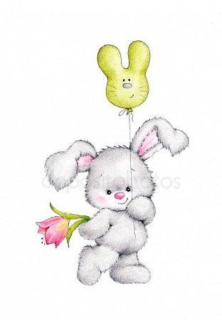 Зайки и зайчики милые рисунки (21)