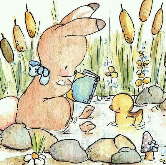 Зайки и зайчики милые рисунки (25)