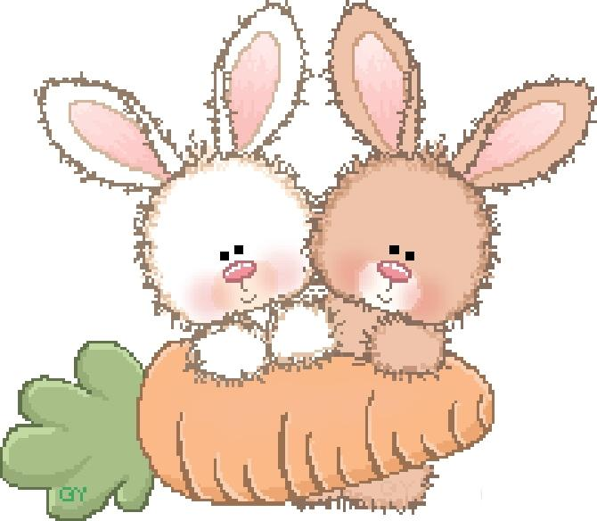 Зайки и зайчики милые рисунки (3)