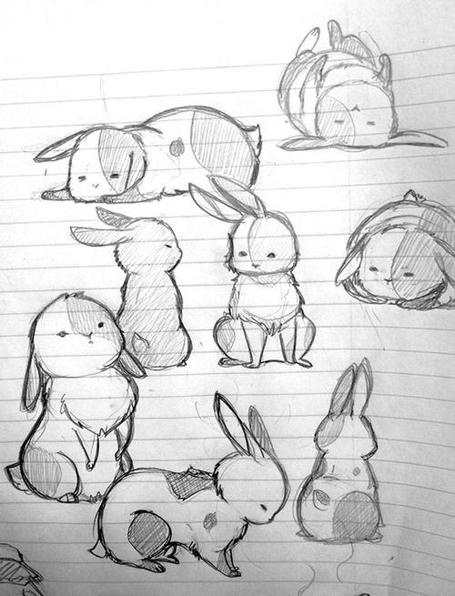 Зайки и зайчики милые рисунки (30)