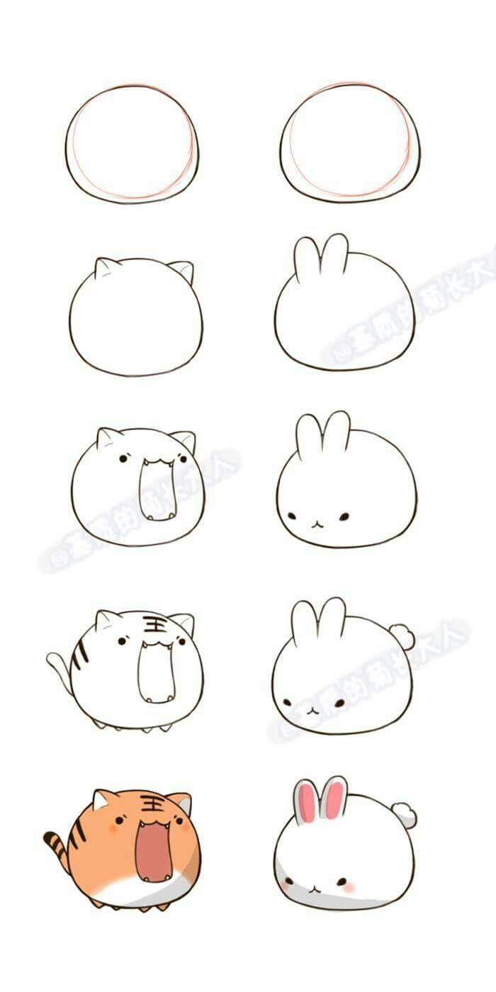 Зайки и зайчики милые рисунки (5)