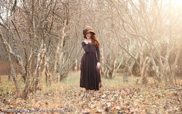 Идеи фотосессии осенью в лесу 009