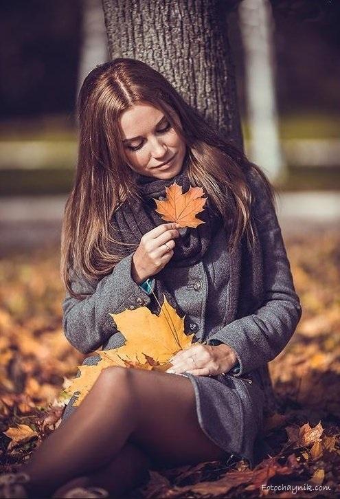 Идеи фотосессии осенью в лесу 010