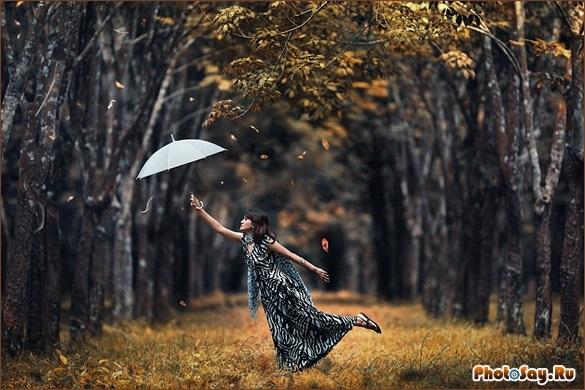 Идеи фотосессии осенью в лесу 011
