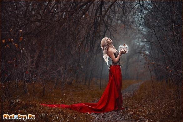 Идеи фотосессии осенью в лесу 012