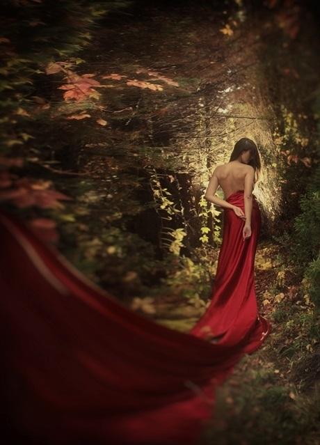 Идеи фотосессии осенью в лесу 013